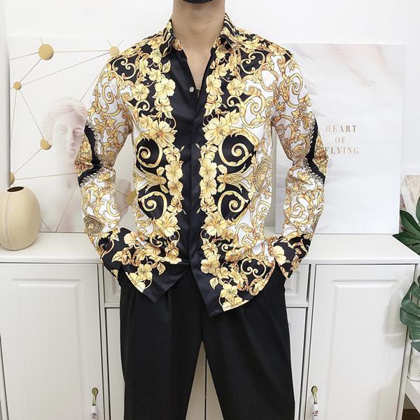 2020 nouvelle mode vague d'hommes Chemise à carreaux impression couleur mélange luxe Chemises à manches courtes Harajuku Medusa Chemises SQ2019 Hommes