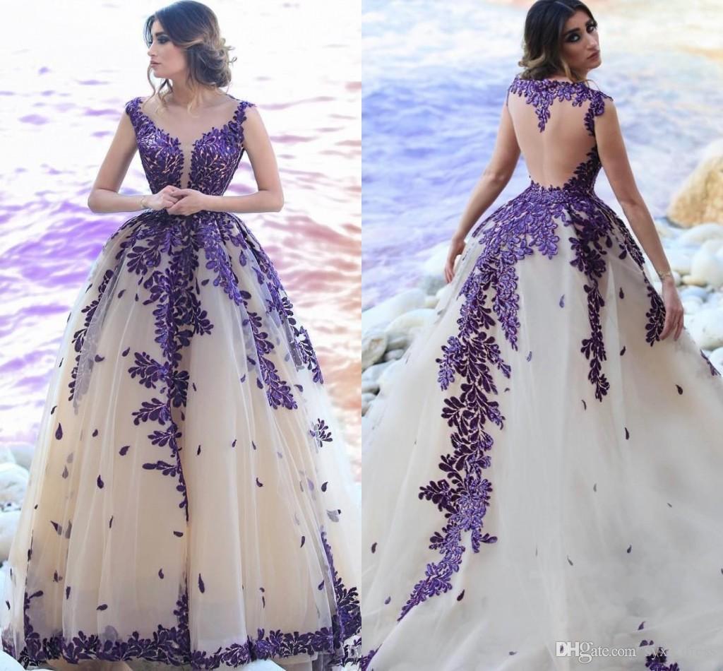 Дубай Арабский Quinceanera Платья Выпускного Вечера Плюс Размер robe de mariée Аппликация с скользящим шлейфом Вечернее платье
