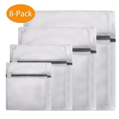 Quality Washing Machine Mesh net Zipped Laundry Wash Bags Bra Sock Underwear UK