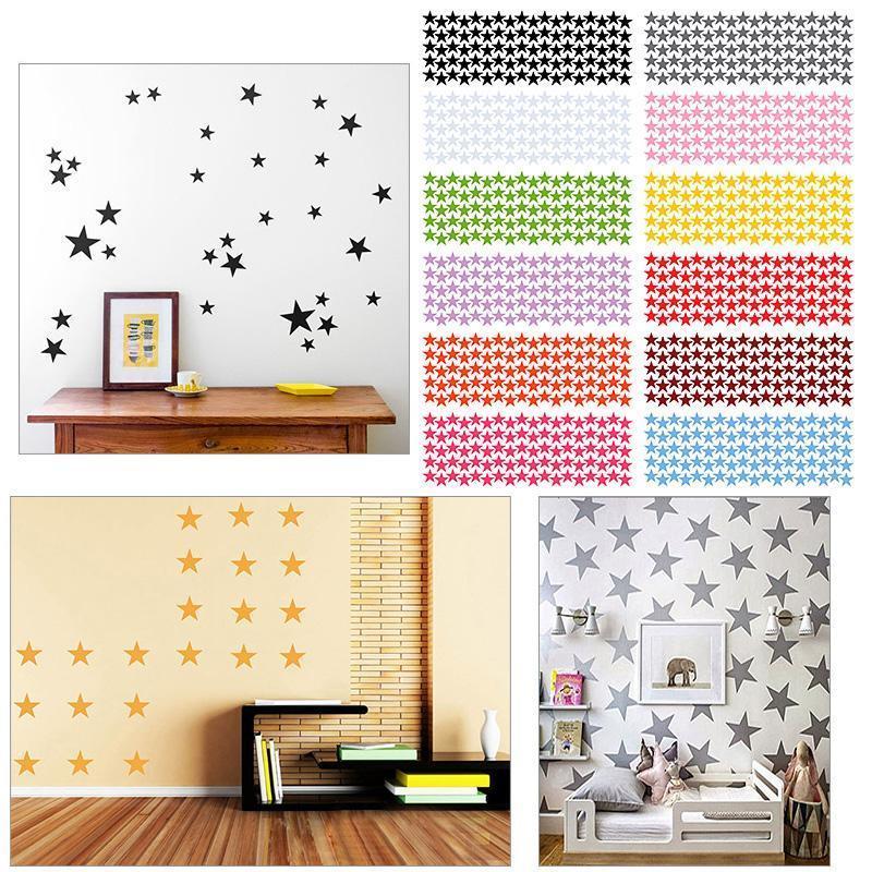 Stars Wall Stickers Kids Room Decal DIY Wall Art Home Decor Fashion 12 Colors Wall Sticker