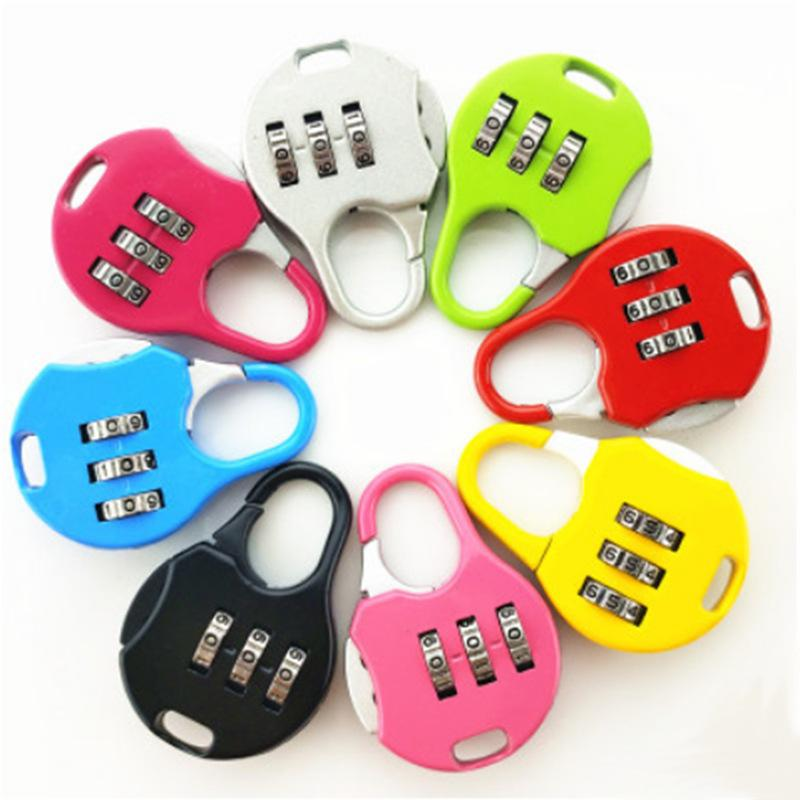 Mini Padlock For Backpack Suitcase Stationery Password Lock Student Children Outdoor Travel Gym Locker Security Metal Padlock DBC BH3538