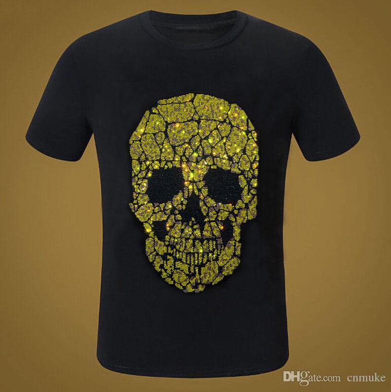 2020 novo sólido cor T shirt dos homens de moda 100% algodão T-shirts Diamantes Verão manga curta T do menino T-shirt Tops tamanho Plus