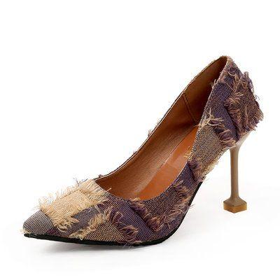 2019 новый стиль осень мода дикая корейская девушка стилет кисточкой мелкий рот заостренные туфли