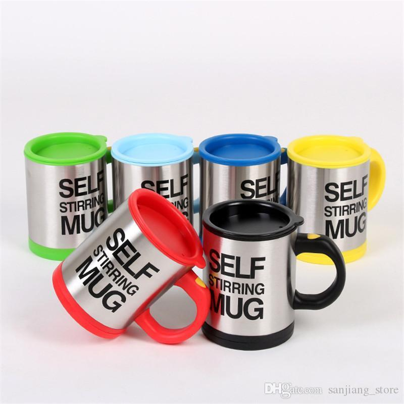 Creative Self Stirring Cup Mugs 400ml Electric Coffee Mug Automatic Self Mixing Cup With Lid Stainless Steel Drinking Cups new