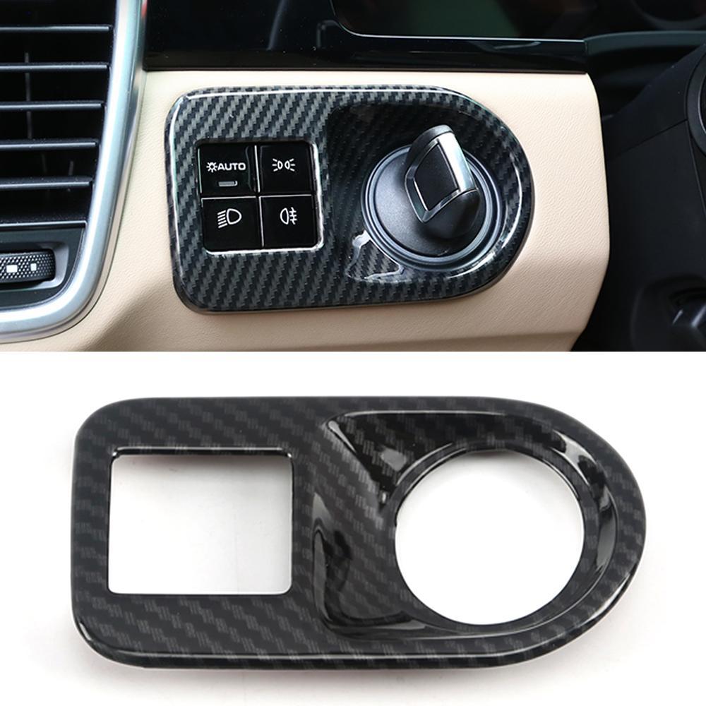 Voiture Accessoires de contrôle PHARES Cadre panneau de garniture couverture Autocollant Décoration pour Porsche Cayenne 2018 2019 2020