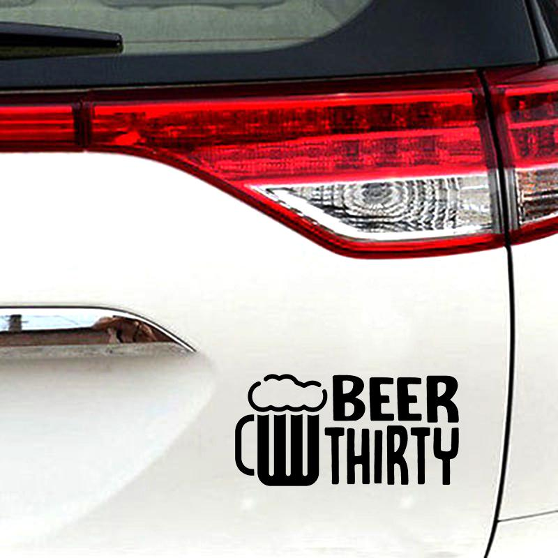 Beer Thirty Decal Window Bumper Sticker Car Party Beers Weekend Drinking Time