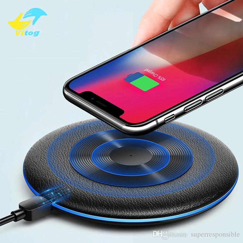 Vitog 10W Fast Wireless Charger For Samsung Galaxy S9 S8 Note 10 9 USB Qi Charging Pad for XS Max XR X 8