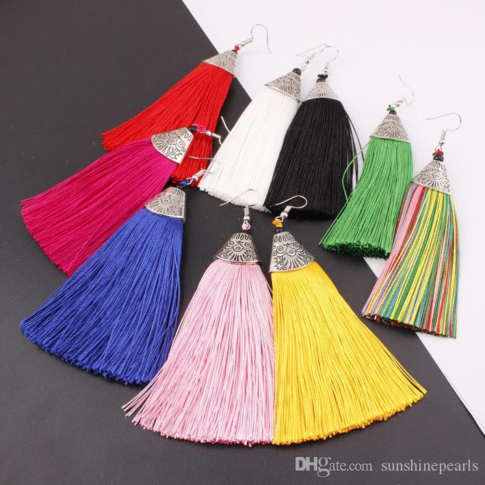 여성 / 여자 프린지 드롭 우아한 귀 액세서리 EZ001에 대한 Womens Long Tassel Dangle 귀걸이