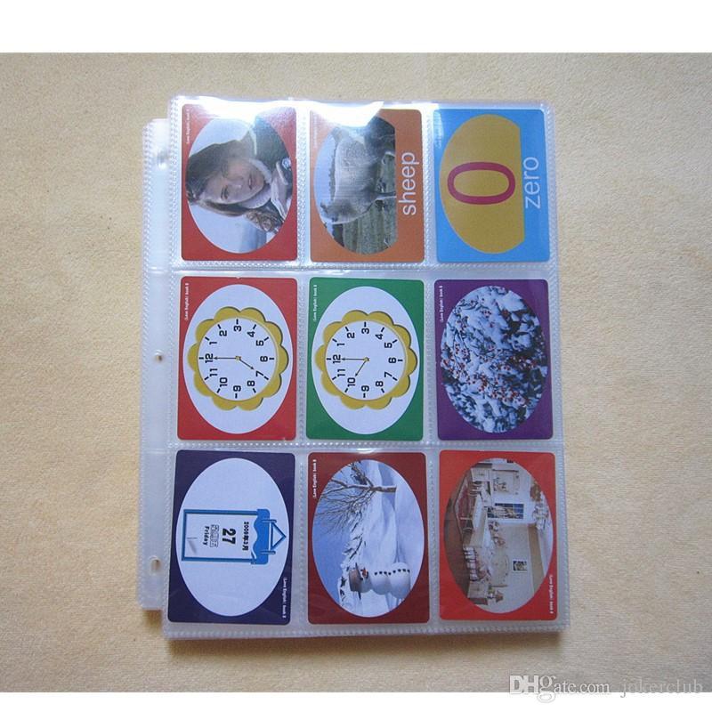 10Pages-100pages الاختيار، 9 جيب ألبوم بطاقة واضحة سلسلة / حامي الموثق MTG TCG YU-GI-OH بطاقة الموثق بطاقة