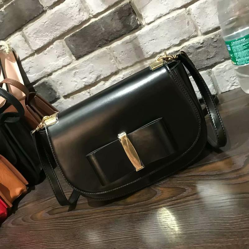 Decent2019 Estate postale Ins Exceed Vera Pelle Fuoco spalla della donna coreana Fashion Small Circle Bow singolo pacchetto