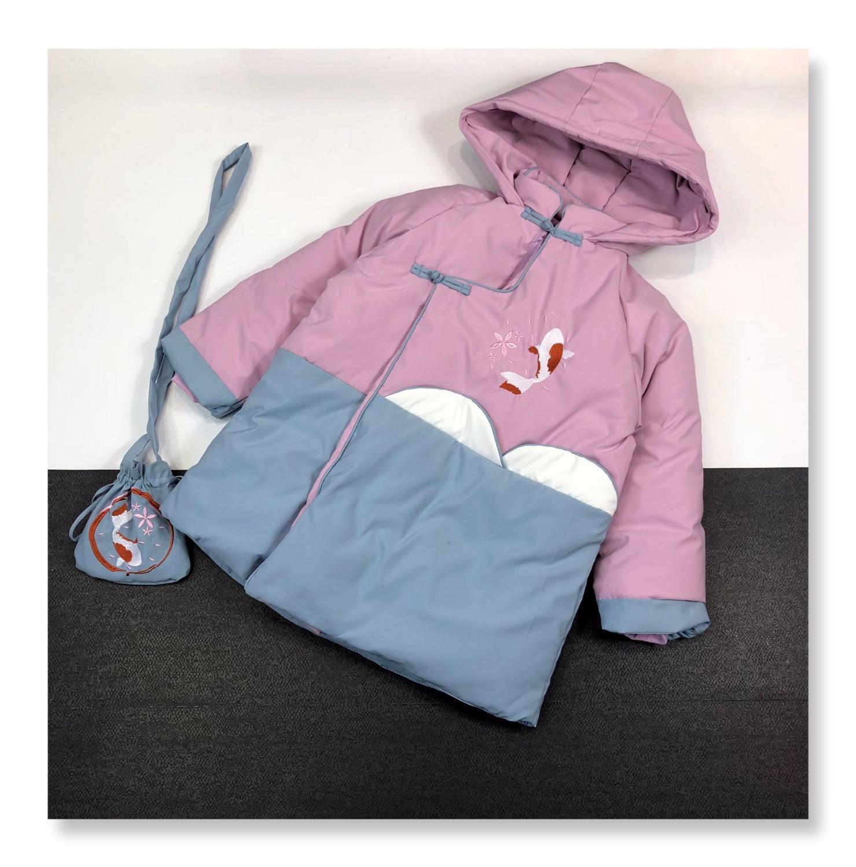 Девушки пальто способ зимы лучшего качества китайский стиль пальто юбка дети одежда WSJ007 # 121724 w04