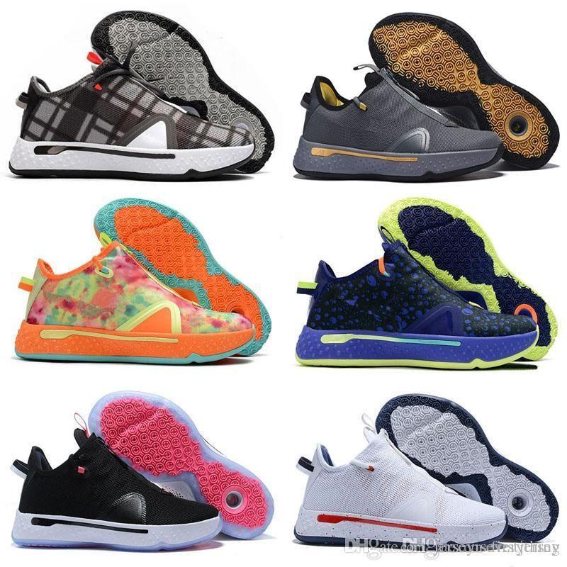 PG 4 IV Arancio Black Navy Mens Basketball Shoes For PG4 NASA 4s formato esterno Formatori Gli uomini le donne Sport Sneakers 40-46