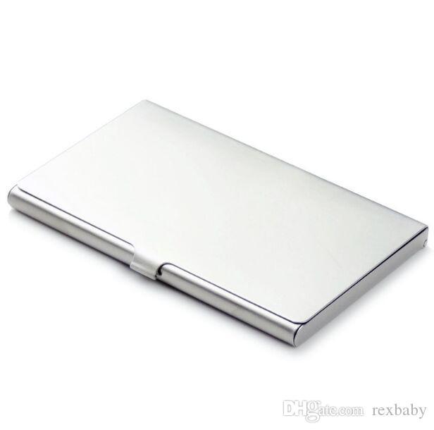 Business Name Credit ID Card Case Holder Aluminum Business Card Holder Card Files Aluminum Silver Color