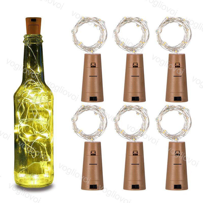 Bolha de garrafa LED de prata led luzes de corda 1m 10led 2m 20led fada tira fio de feijão de festa ao ar livre decoração da lâmpada da lâmpada de novidade epacket