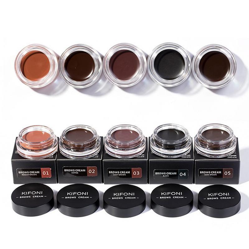 KIFONI Gel de Sobrancelha Profissional 6 Cores de Alta Tintura Sobrancelha Maquiagem Gel Marrom Com Sobrancelha Escova Ferramentas