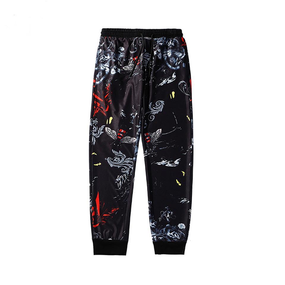 Jogger İpli Erkek Uzun Pantolon için yeni 2020 erkek pantolon Moda Erkek Sweatpants Markalı eşofman altı