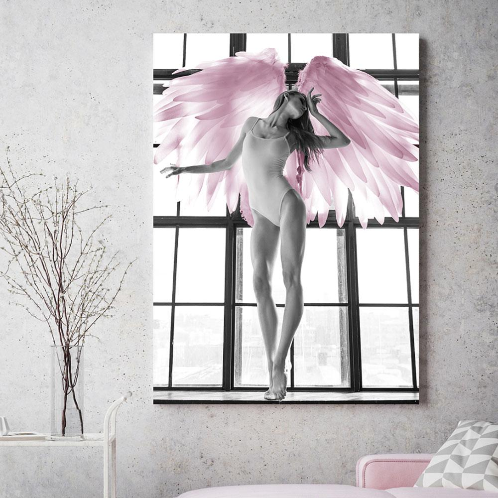 Sexy Black Woman Pink Poster Feature Nordic Art Canvas Print Painting Wall Picture Modern HD Image Home Decoration Unframe