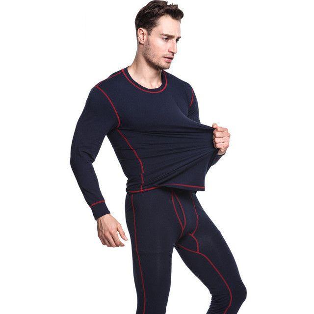 Yeni Sonbahar Kış Termal İç Giyim Erkekler Hızlı Kuru Anti-mikrobik Stretch Erkek Termo İç Erkek Sıcak Uzun Johns Fitness Setleri