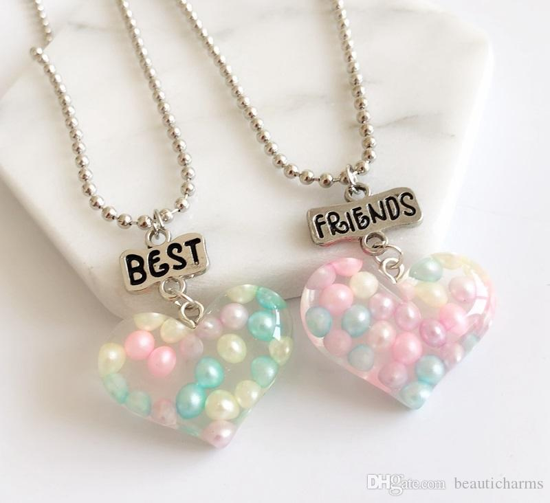 Wholesale /Pair Best Friends Kids Necklaces Colorful Heart Pendant Children  BFF Necklace For Children Friendship Jewelry, Birthday Gifts Personalized Pendant  Necklaces Letter Pendant Necklaces From Beauticharms, $2.01| DHgate.Com