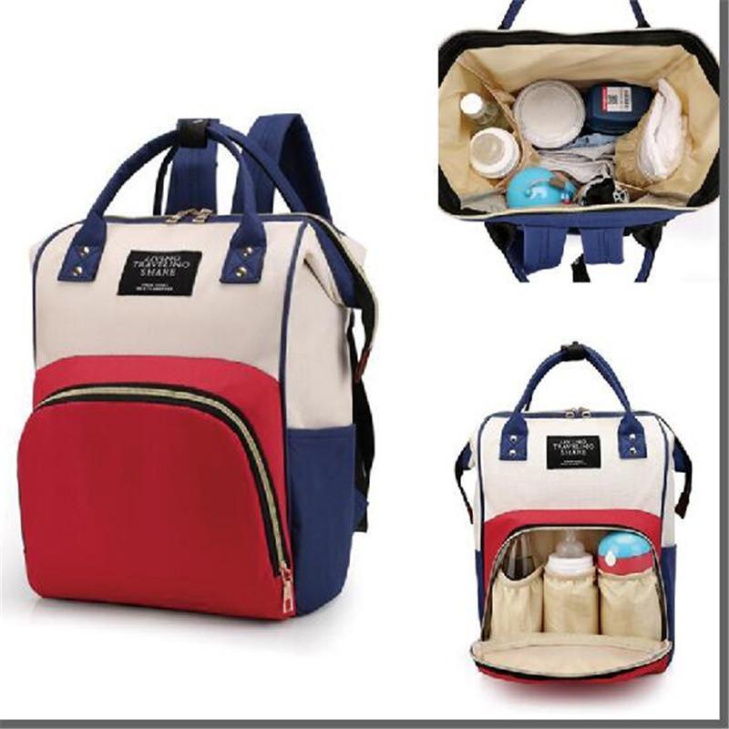 Многофункциональный Мумия материнства подгузник сумка мода лоскутное большой емкости детская сумка путешествия рюкзак сумка для кормления для мамы дизайнер