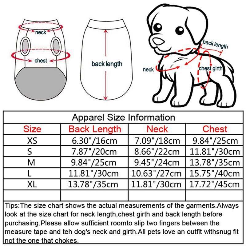 Pet Primavera Estate Stripes Orso Sling Gonna, Small Medium Abito senza maniche Cani, materiale del cotone di alta qualità per Puppy
