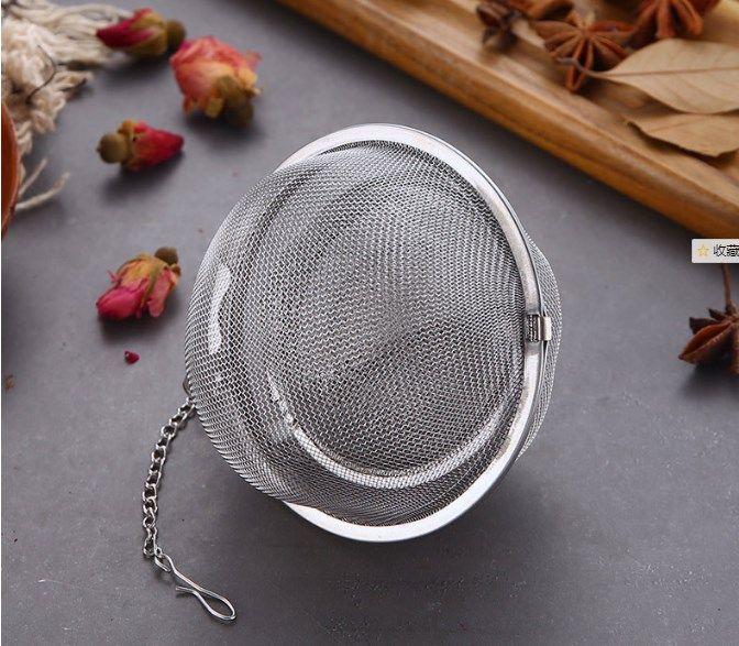 304 Edelstahlgewebe Tekugeln 5cm Teesieb Siebe Filter Interval-Diffusor für Tee Küche Essbar Werkzeuge