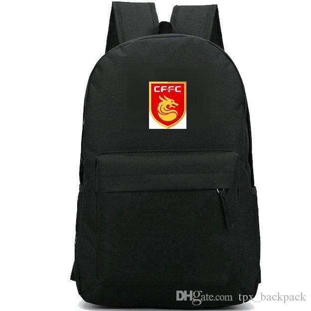 Zaino della Cina Fortune FC pack da giorno buon club Hebei Zaino da scuola della squadra Soccer packsack Zaino di qualità Zaino sportivo Zaino da esterno