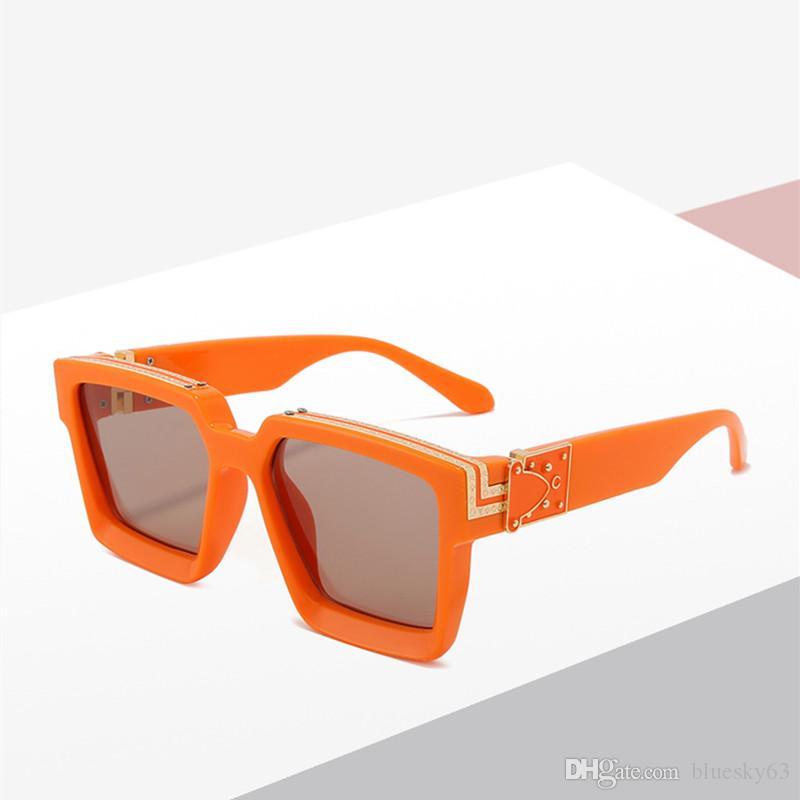 Новые площади Солнцезащитные очки мужские женщина Марка солнцезащитные очки UV400 Fashion Street Punk Стрельба Солнцезащитные очки Мужчины