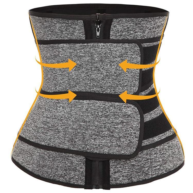 Bandas prima de la cintura del neopreno que adelgaza la correa Trainer talladora del cuerpo de doble correas de Cincher del corsé de fitness Sauna Sudor correa de la faja fajas de DHL