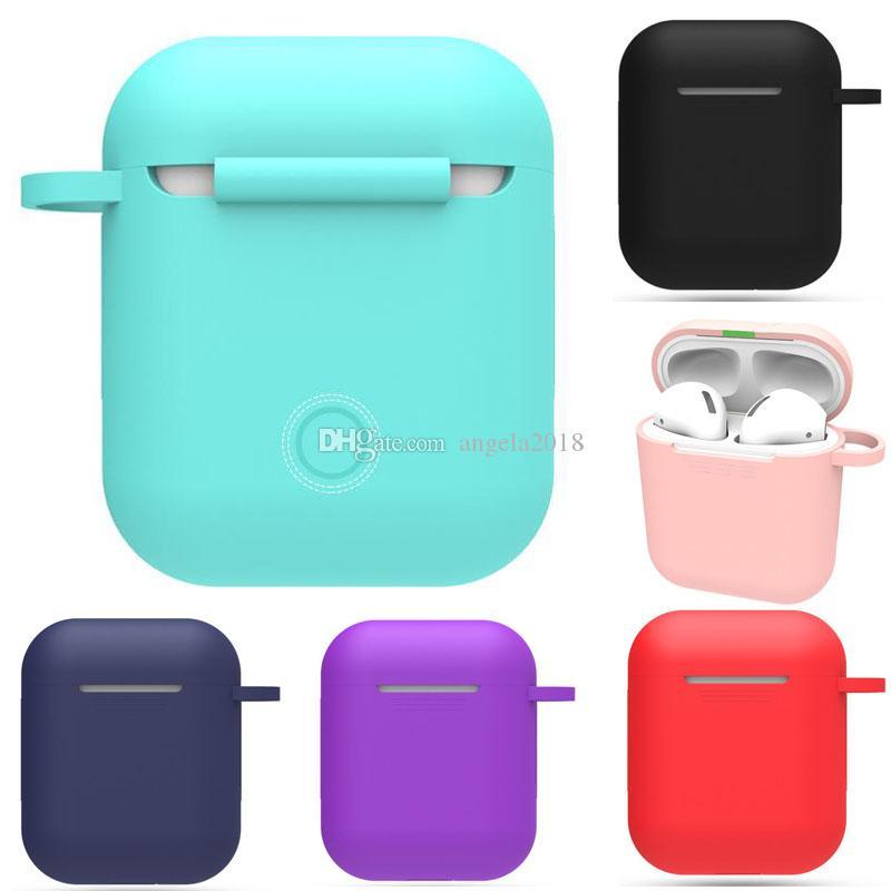 Красочный для Airpod защитный чехол Bluetooth Беспроводные наушники силиконовый чехол с зажимом анти-падение аксессуары крышка наушников с крючком DHL