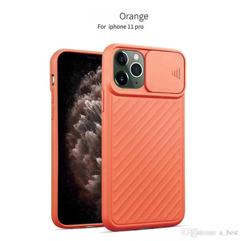 New Soft TPU Anti-Scratch Shockproof Phone Case For iPhone 11 pro Max XR XS Max 8 plus with Horizontal Sliding Window