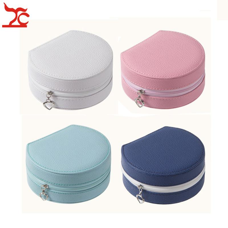Creative Useful Mini Jewelry Box Fashion Leather Makeup Case Portable Travel Ring Earring Jewelry Organizer Case Cosmetic Box Boite Bijoux