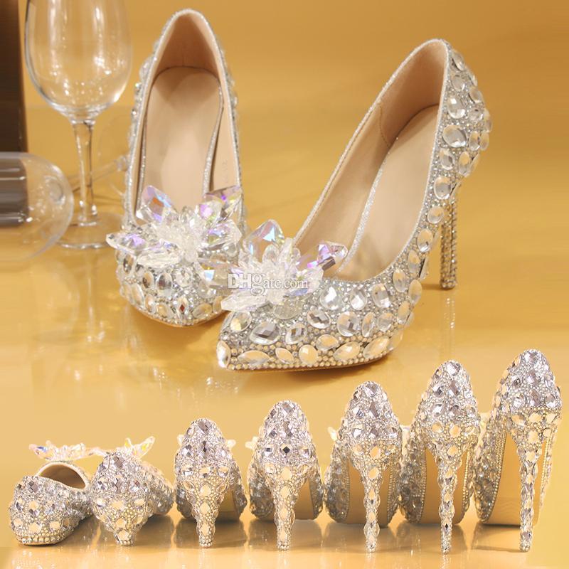 Handmade Sparkly Pointed Toe Diamond