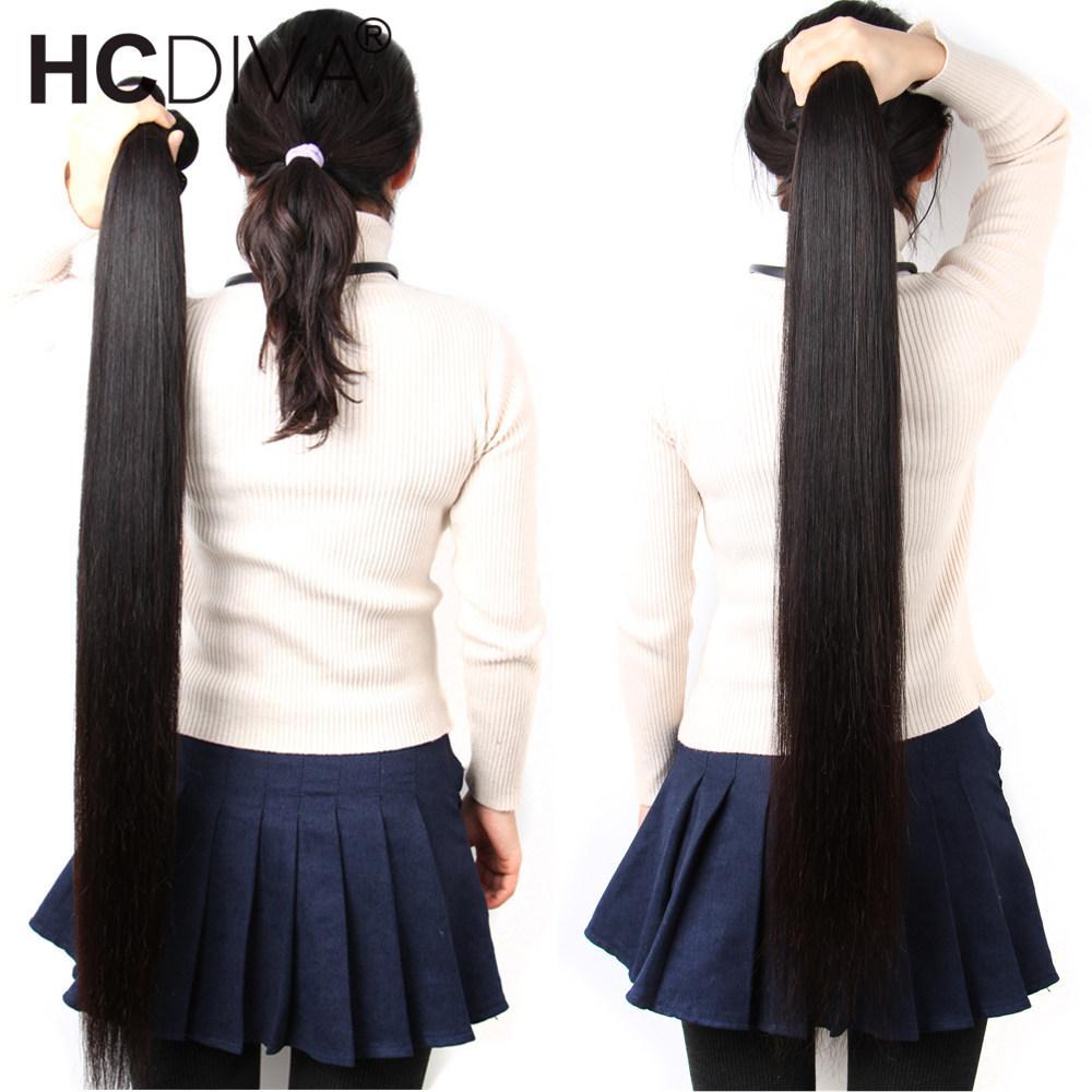 HCDIVA 브라질 버진 인간의 머리카락 번들 스트레이트 헤어 짜기 확장 1 3 4 10 PCS / LOT 공장 도매 가격 2020 무료 LASHESGIFT