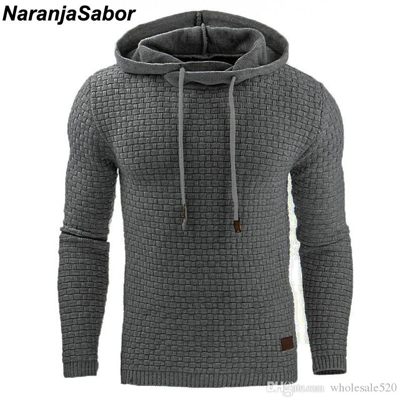NaranjaSabor 2018 Autumn Men's Hoodies Slim Hooded Sweatshirts Mens Coats Male Casual Sportswear Streetwear Brand Clothing N461