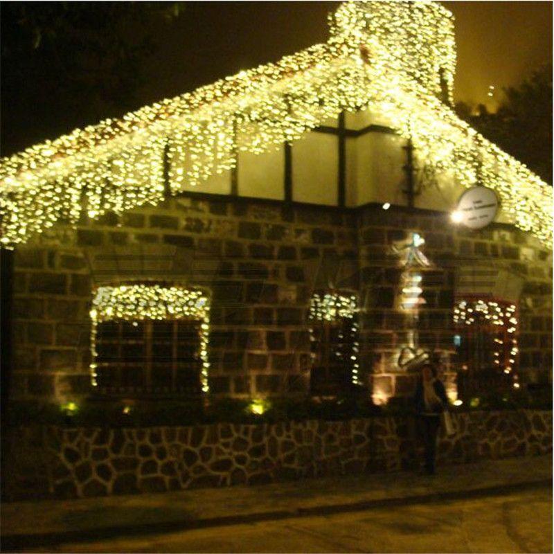 10 * 1m 448 Bulbs Outdoor Garland LED Curtain Fairy Lights Christmas Lights Decoration For Wedding Holiday Party EU US AU UK Plug