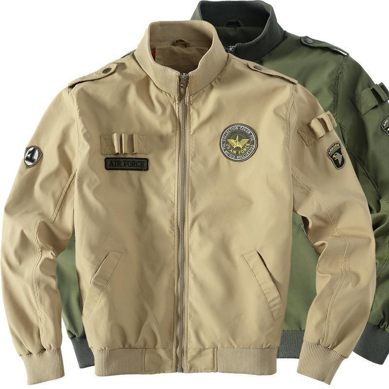 سترات عسكرية تكتيكية ذكر الجيش الجوية الأمريكية البيسبول اسكواش كلية الطيار في سلاح الجو للماء منفذها الطيران الرجال معطف