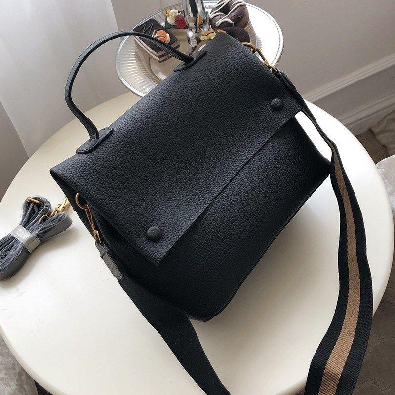 2020 Повседневный Обложка Сумка Pu сумки Женские сумки Широкий Полосатый ремень Crossbody сумка для Кошельки Кожа Замша