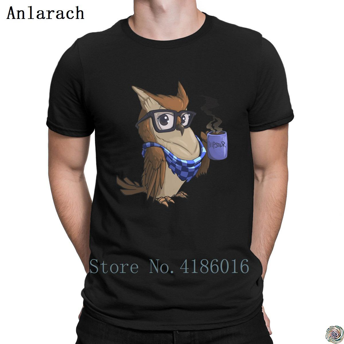 Hipster Owl t-shirts fashion 2018 Free Shipping Family t shirt for men Character streetwear tops Anlarach size S-3xl