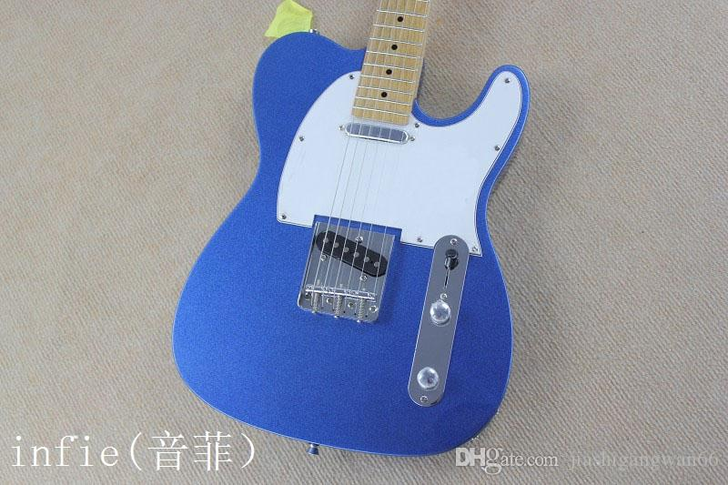 Free shipping new TElE electric guitar maple fretboard neck sky blue 22 items guitar