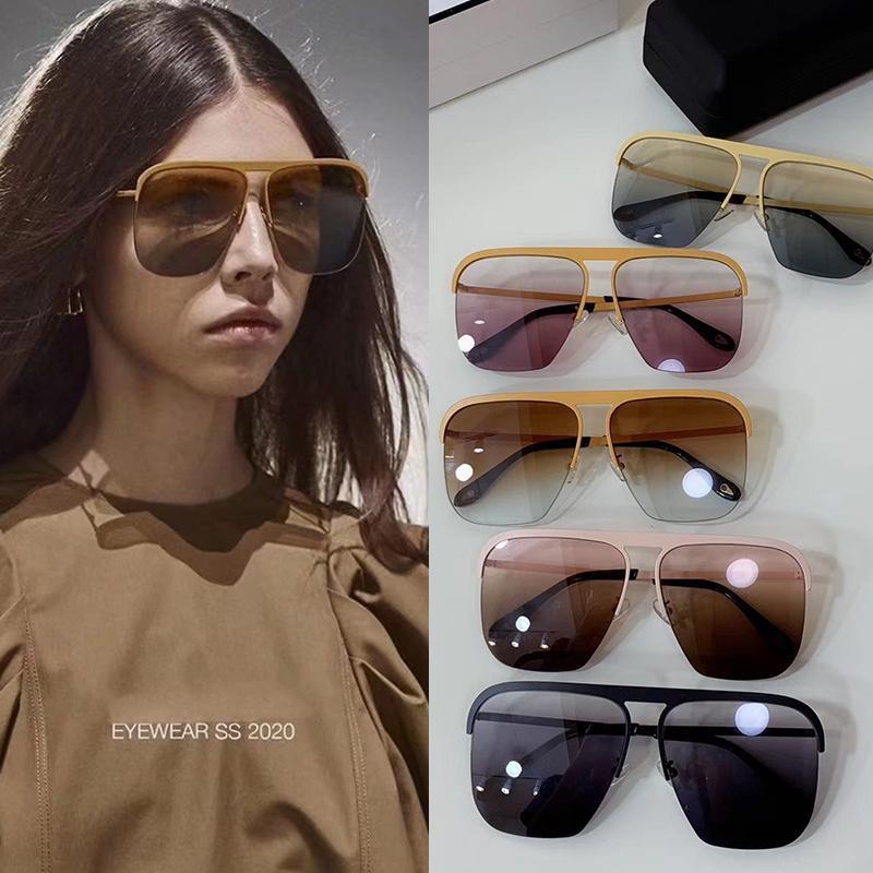 Tasarımcı Güneş Lüks Güneş Kutu ve Marka Logosu GV7146 ile Erkekler Yaz Marka Cam UV400 için Kadın Sıcak Style Sunglass