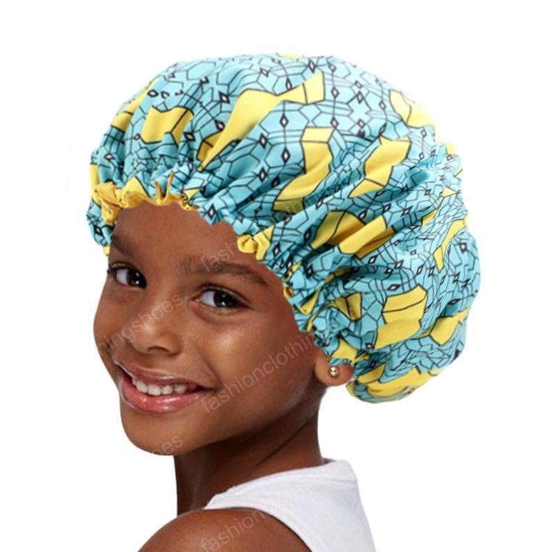 جديد كبير جدا الاطفال النوم كاب قابل للتعديل طباعة الأفريقية أنقرة الحرير بونيه غطاء النوم العمامة قبعة ليلة النوم قبعة كاب العلاج الكيميائي