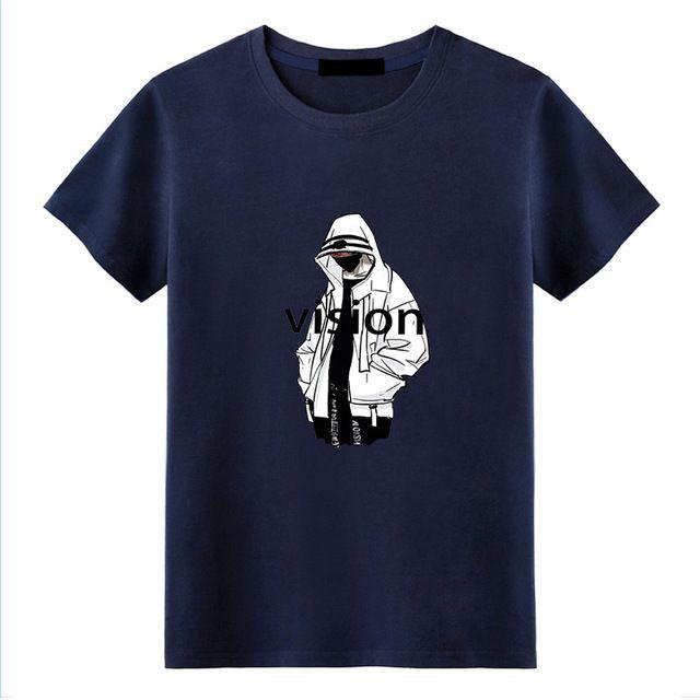 T-shirt T-shirt des hommes de costume 2020 été chaud nouveau coton T-shirt à manches courtes hommes occasionnels marque de mode manches courtes -15
