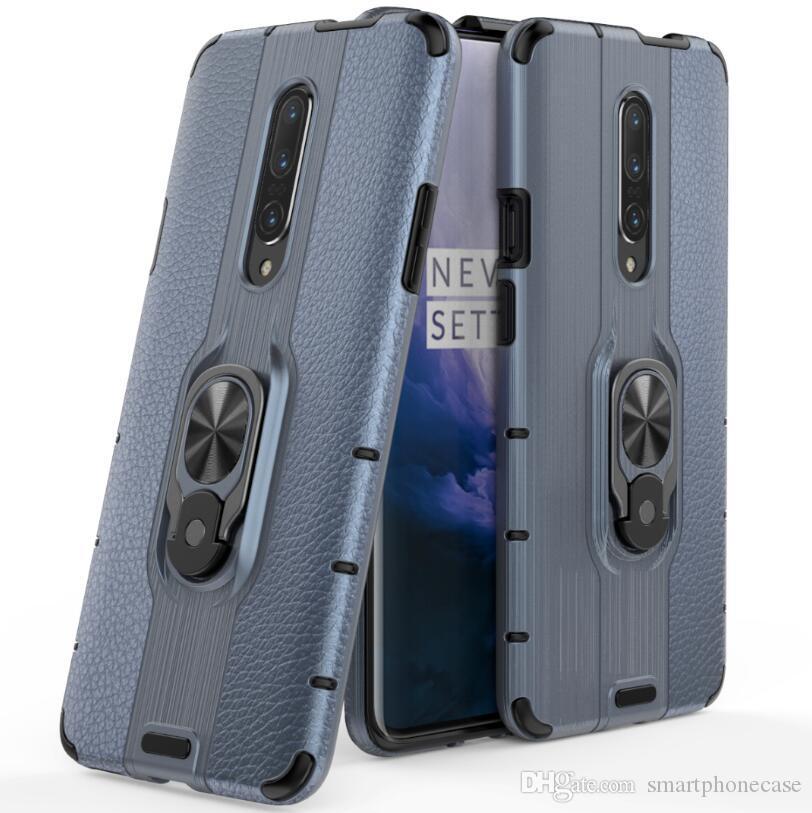 Для Oneplus 7 Pro Case Ring Luxury Красочные Оригинальные Симпатичные Тонкий Стикер Жесткий Пластик ТПУ Чехол Для Oneplus 7 Pro