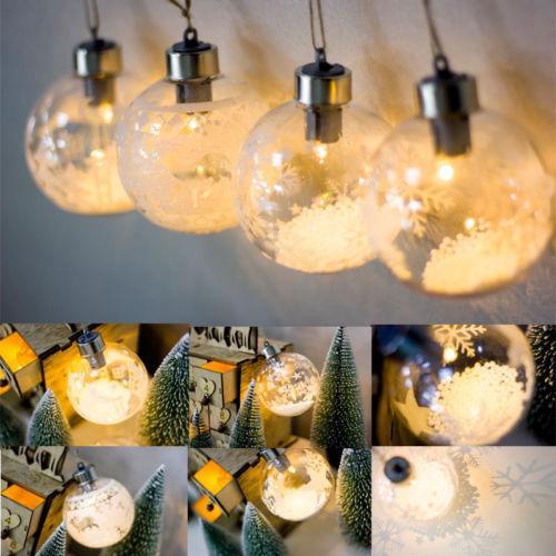 LED transparent Arbre de Noël PVC Boule Lumière Hanging Ornements Décor Glow Party Supplies
