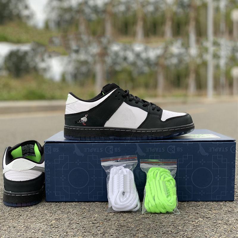 Zımba SB Dunk Düşük Pro OG QS Kaykay Ayakkabı Panda 3.0 Moda Tasarımcıları Sport Sneakers Siyah Beyaz Günlük Ayakkabılar 32 x