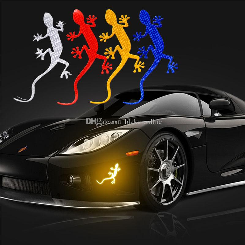 3D Car Gecko Reflective Strip Light Reflector Auto Exterior Accessories Reflective Sticker Safety Warning Reflective Tape