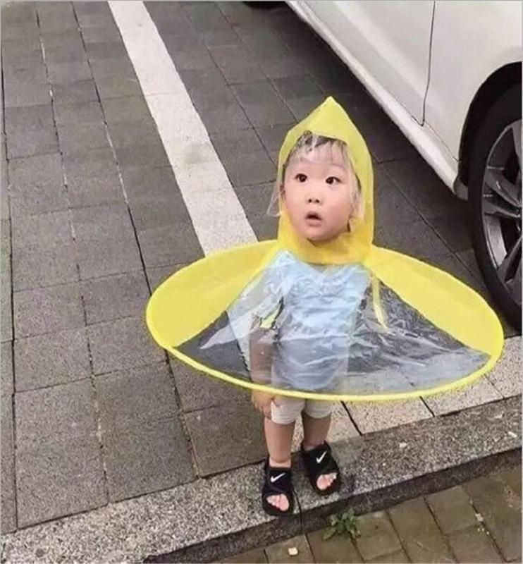 Ufo детских Дождевики Симпатичный желтый уток дождевик Водонепроницаемый Для детей Зонтика Cover Girl Boy дождевик ребенок пончо Плащ yisgB