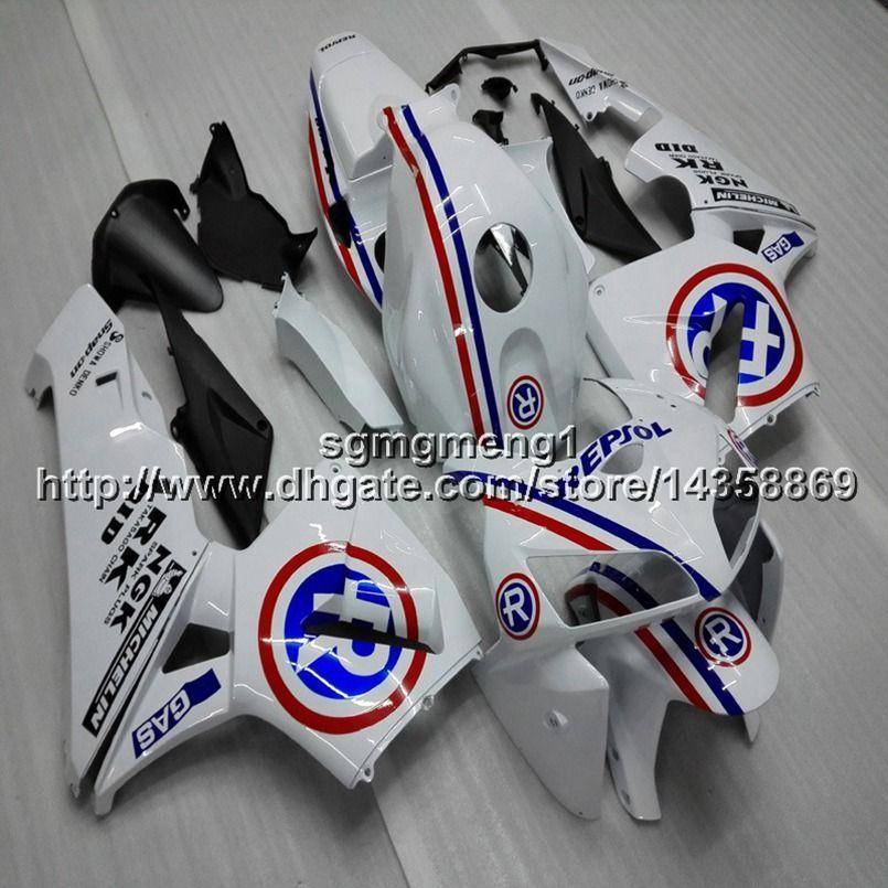 Geschenke + Schrauben Spritzgussform repsol weiß Motorrad Verkleidung Rumpf für HONDA CBR600RR 2005-2006 F5 05 06 Motorrad Verkleidungen Body Kit