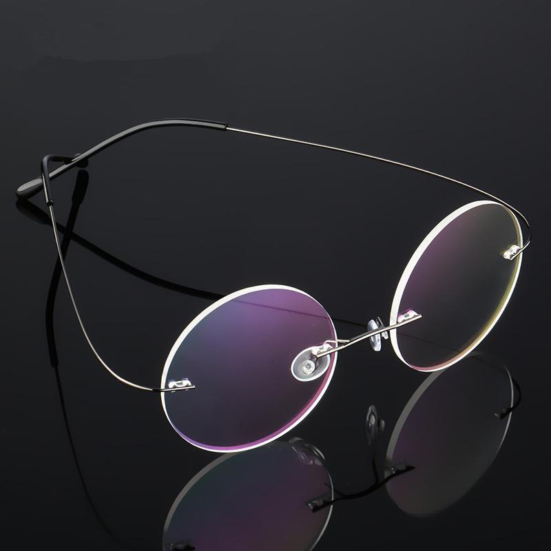 2019 UVLAIK Round Titanium Alloy Glasses Frame Men Women Frameless  Spectacle Frame Rimless Eyewear Frames Super Elastic From Taihangshan,  $40 27 |